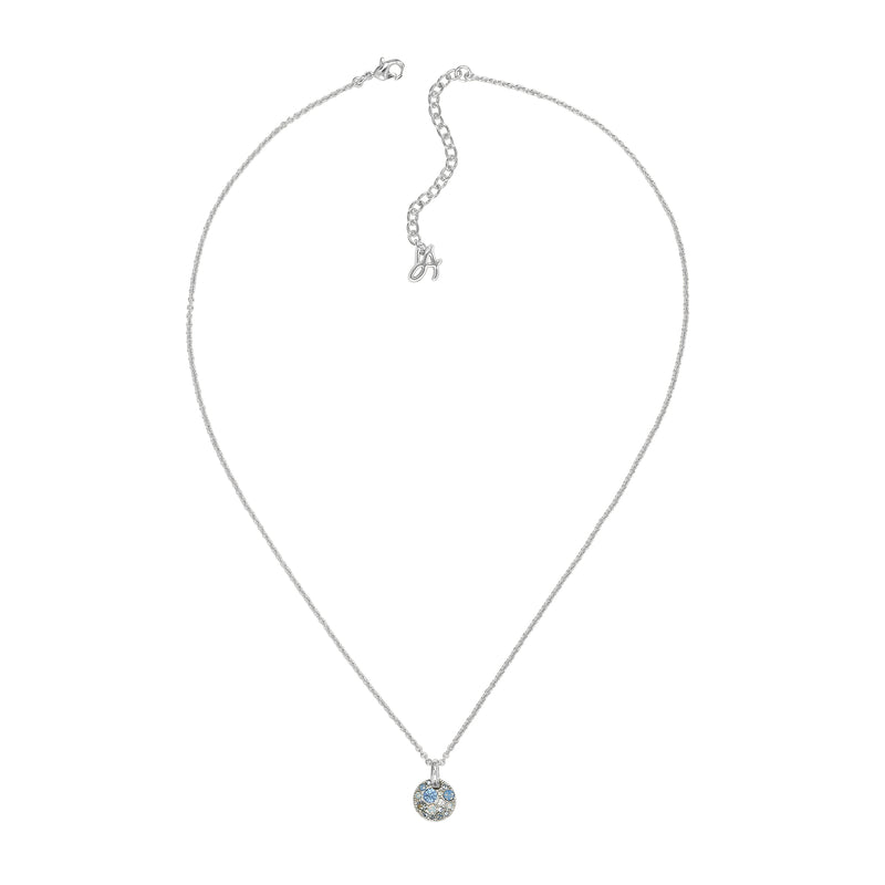 Adore Shimmer Mini Metallic Pavé Disc Necklace