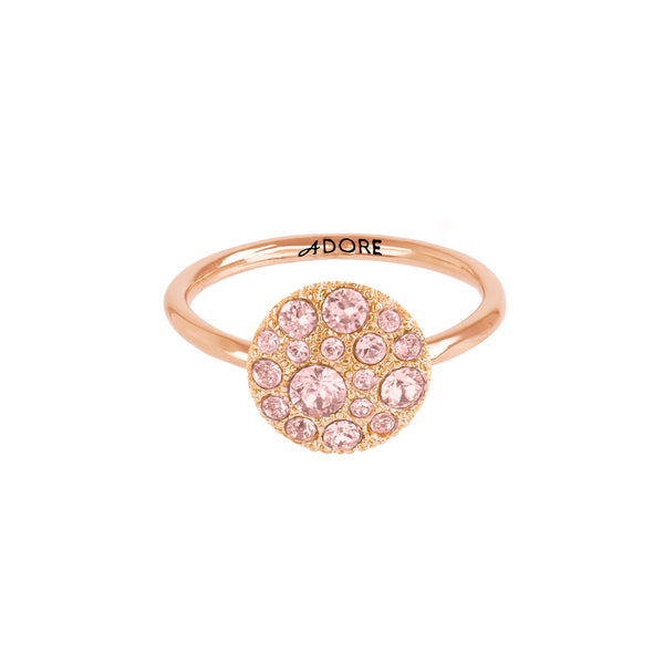 Adore Shimmer Small Metallic Pavé Disc Ring Detail