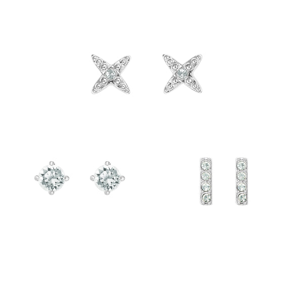 Adore Holiday Rhodium Earrings Box Set Detail