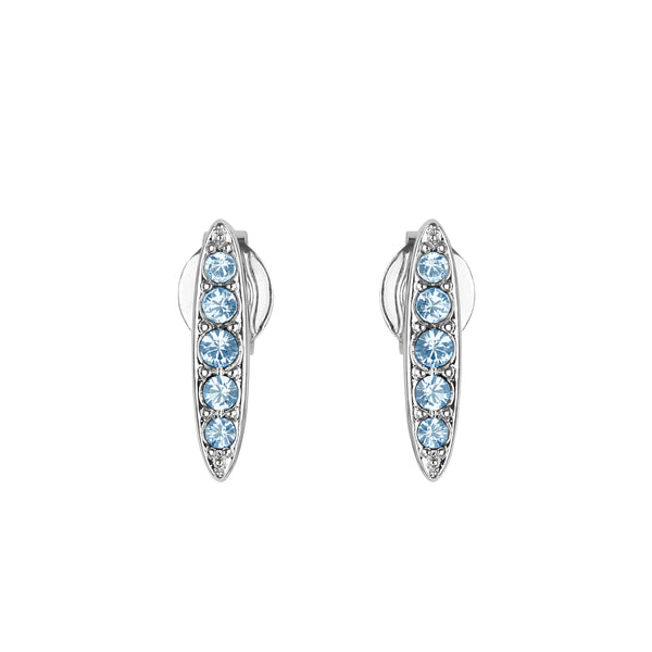 Adore Allure Light Sapphire Pavé Navette Stud Earrings Detail