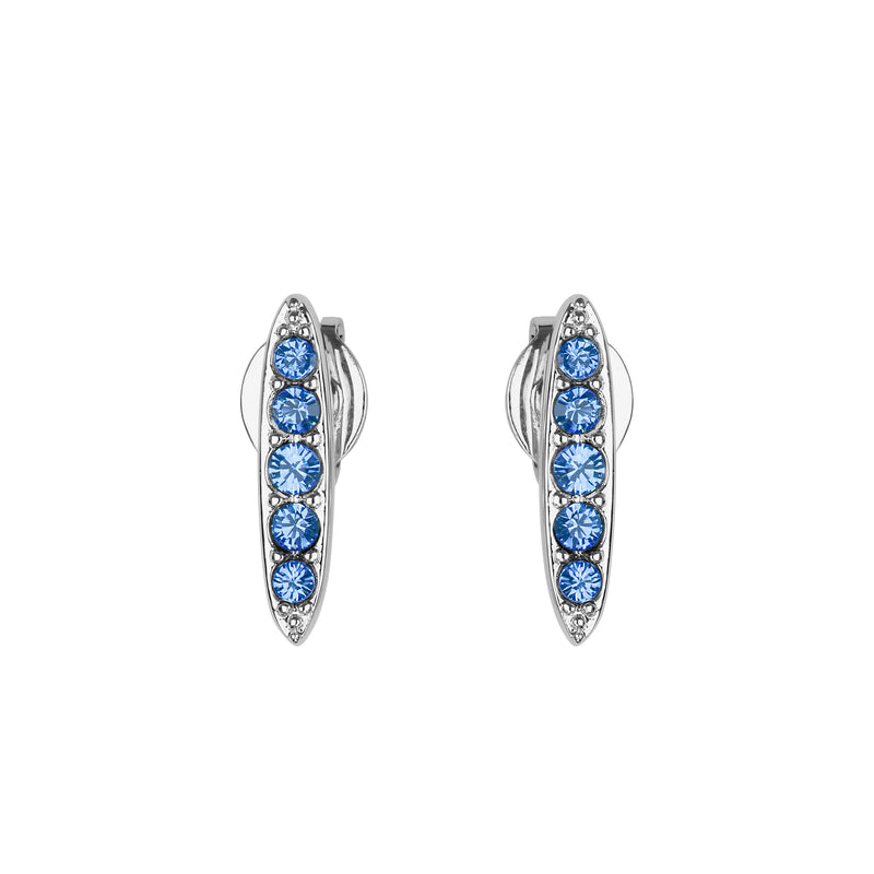Adore Allure Sapphire Pavé Navette Stud Earrings Detail