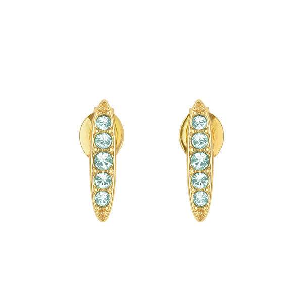 Adore Allure Light Azore Pavé Navette Stud Earrings Detail