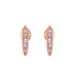 Adore Allure Violet Pavé Navette Stud Earrings Detail