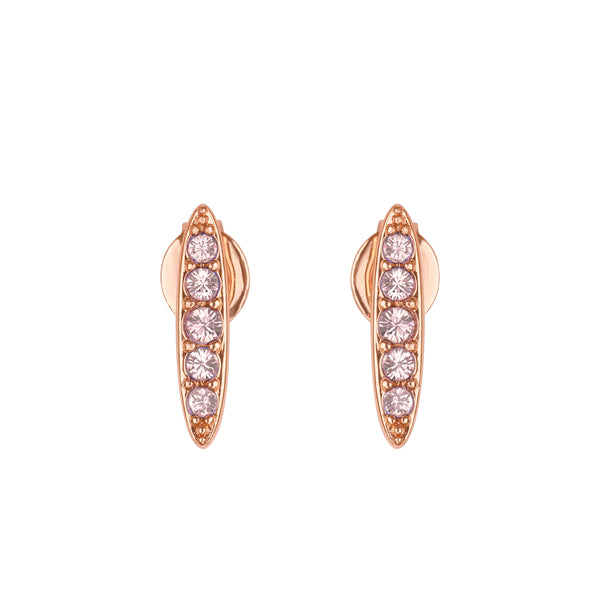 Adore Allure Vintage Rose Pavé Navette Stud Earrings Detail