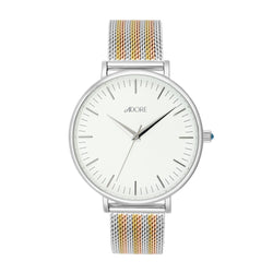 Adore Shimmer 38mm Tri Tone Mesh Watch Detail