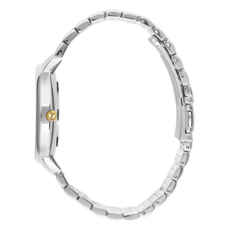Luxe 33mm Rhodium & Gold Bracelet Detail Side View