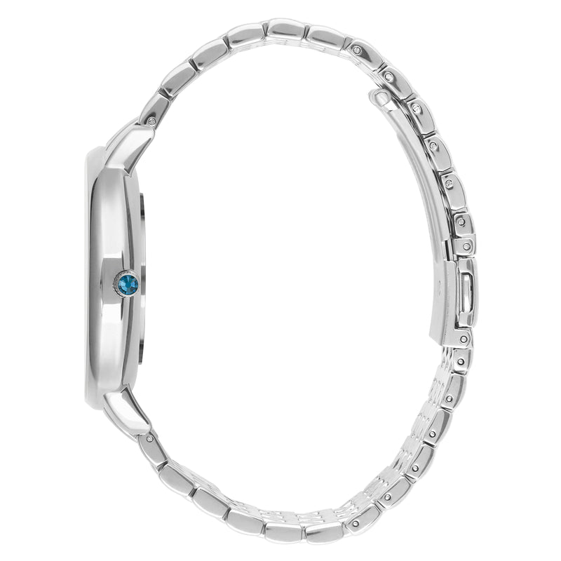 Adore Luxe 38mm Rhodium Bracelet Detail Side View