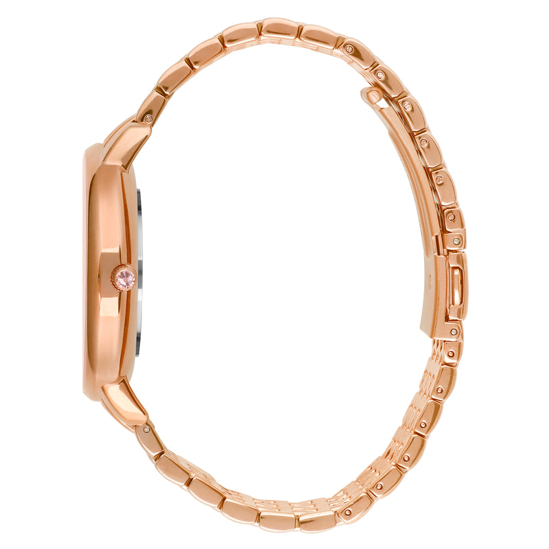 Adore Luxe 38mm Rose Gold Bracelet Detail Side View