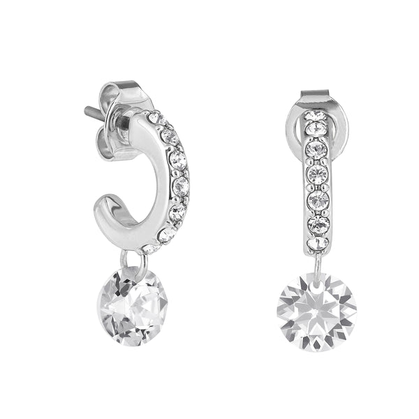 Adore Allure Round CZ Pavé Mini Hoop Earrings Detail