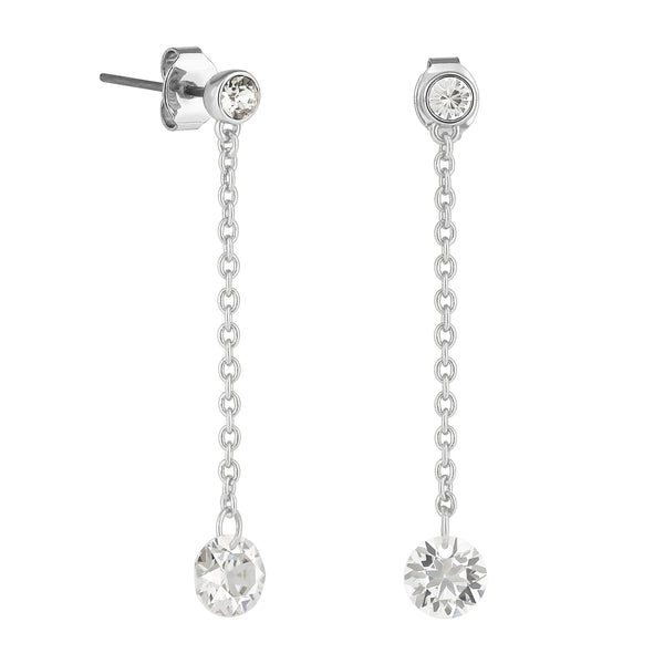 Adore Allure Round CZ Chain Drop Earrings Detail