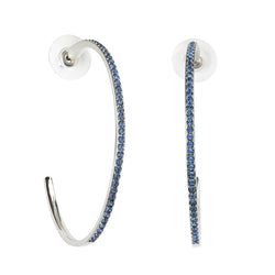 Adore Allure Extra Large Pavé Hoops Detail