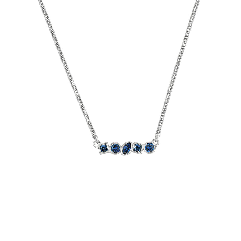 Adore Brilliance Mini Mixed Crystal Bar Necklace