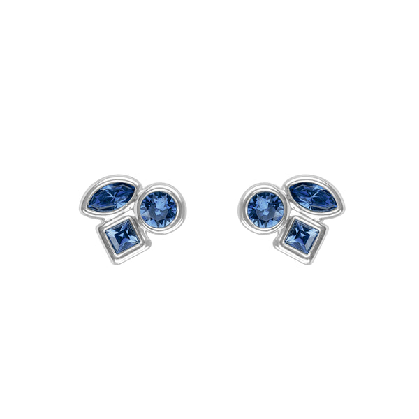 Adore Brilliance Mini Mixed Crystal Stud Earrings Detail