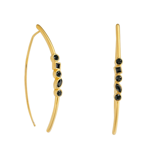 Adore Brilliance Mixed Crystal Arc Earrings Detail