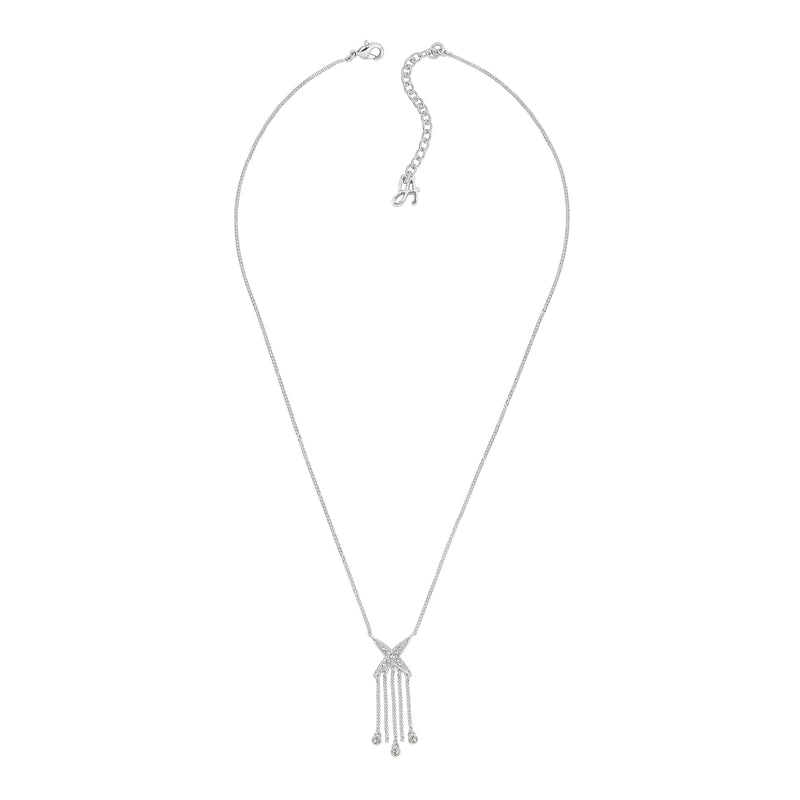 Adore Elegance 4 Point Star Fringe Necklace