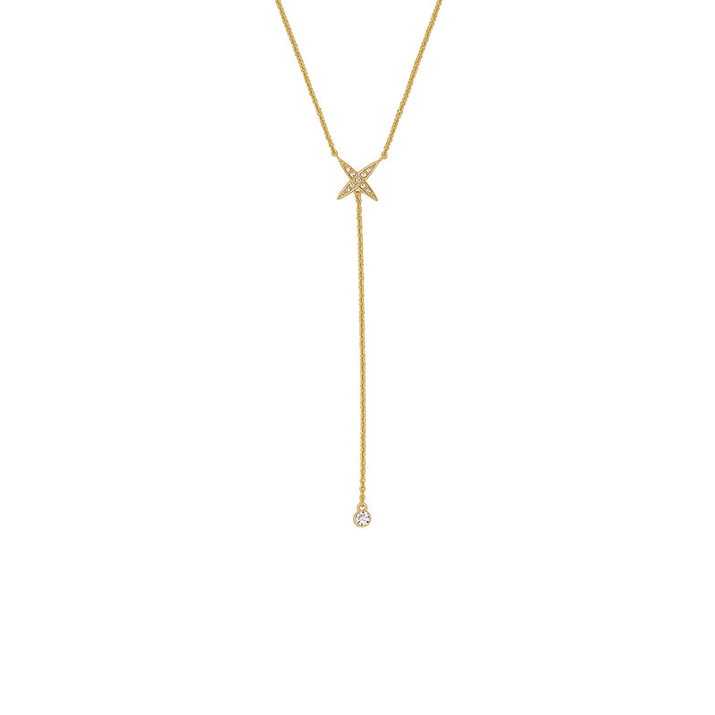 Adore Elegance 4 Point Star Y Necklace