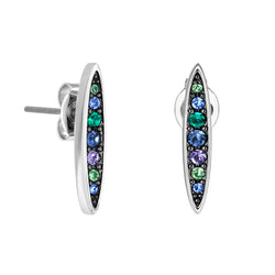 Adore Elegance Pavé Navette Stud Earrings Detail