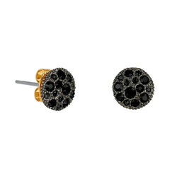 Adore Shimmer Pavé Disc Stud Earrings Detail