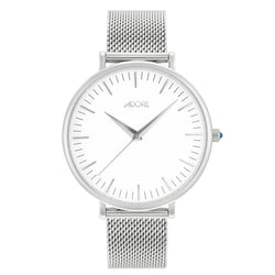 Shimmer 38mm Mesh Watch - Rhodium Plated / Swarovski® Crystal