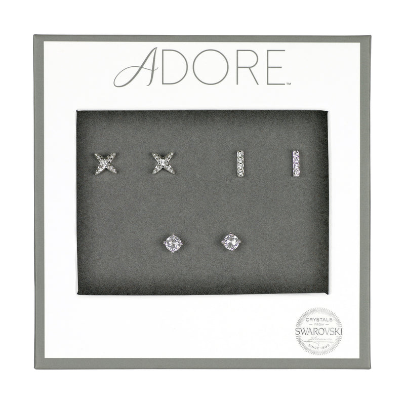 Adore Holiday Rhodium Earrings Box Set Packaging