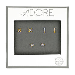 Adore Holiday Gold Earrings Box Set packaging