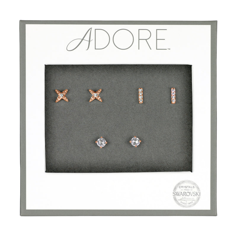 Adore Holiday Rose Gold Earrings Box Set Packaging