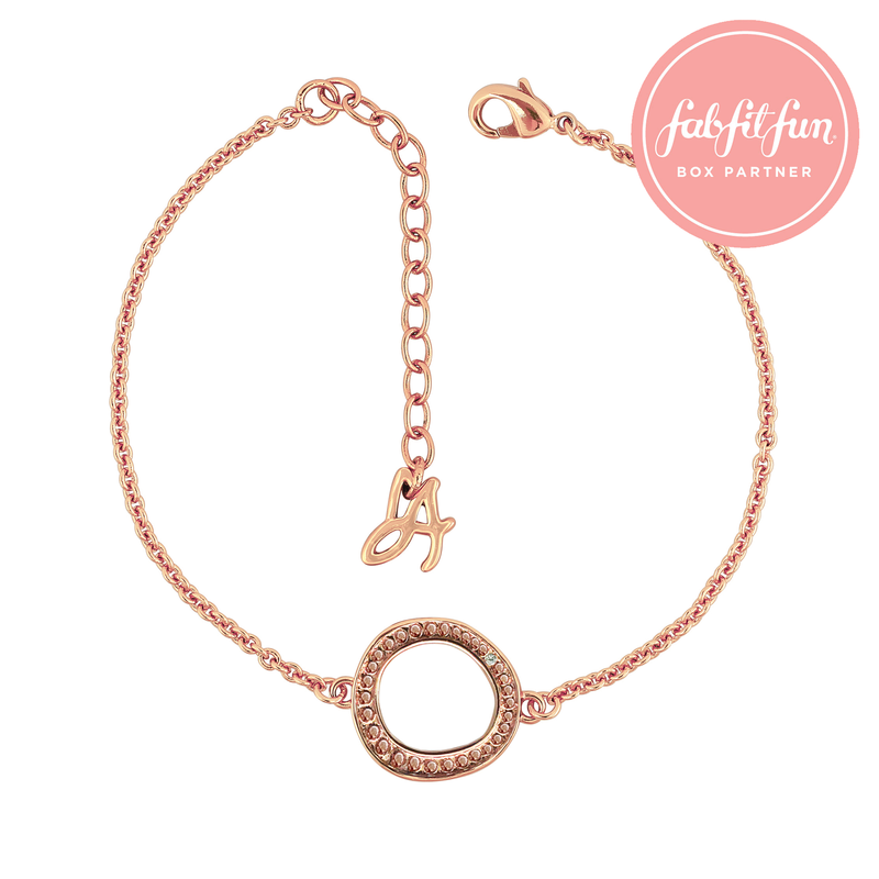 Organic Circle Beaded Bracelet - Rose Gold Plated / Swarovski® Crystal