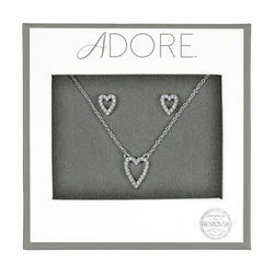 Adore Holiday Rhodium Pavé Heart Gift Set Packaging
