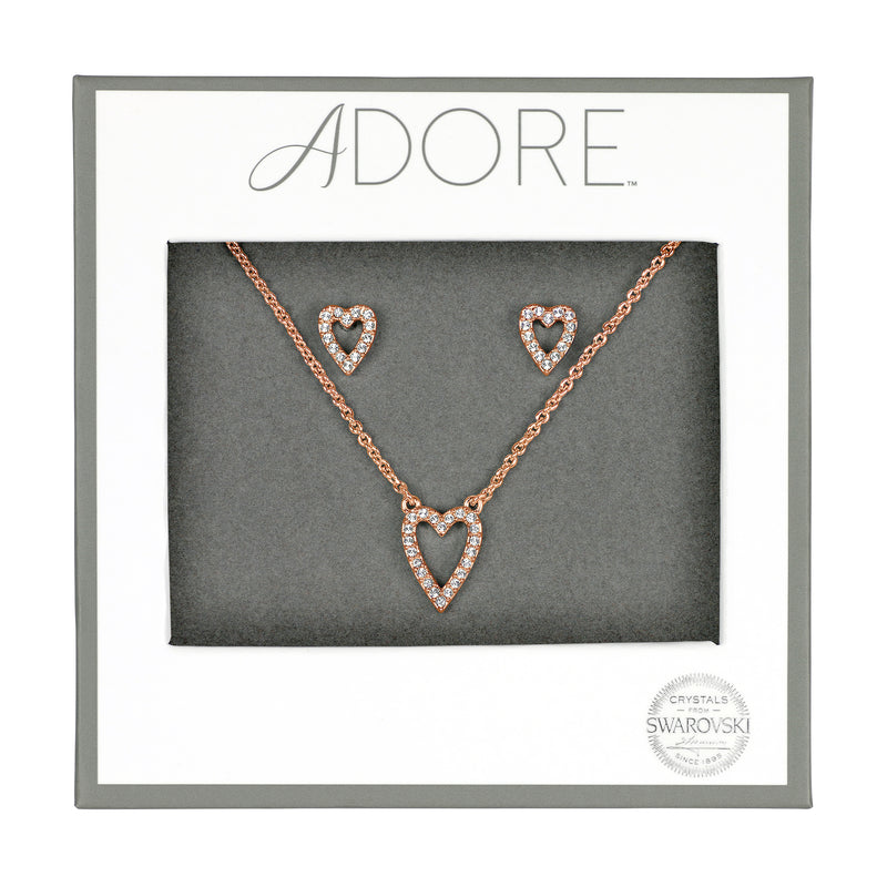 Adore Holiday Rose Gold Pavé Heart Gift Set Packaging