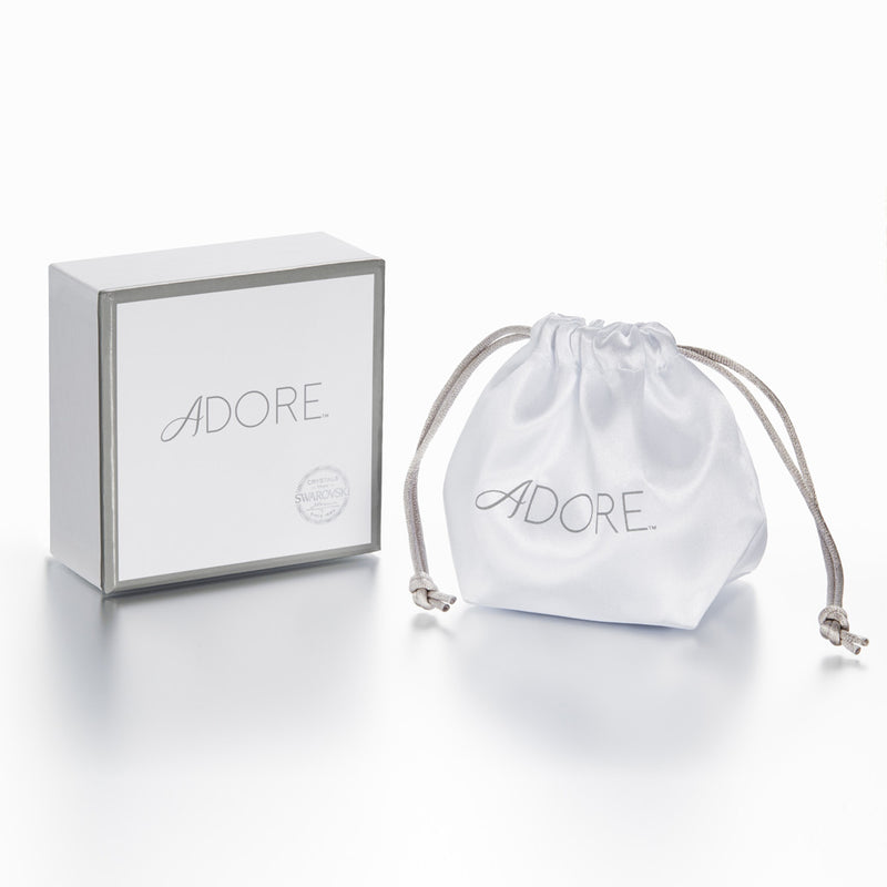 Adore Elegance Rhodium Pavé Double Mini Hoops Packaging