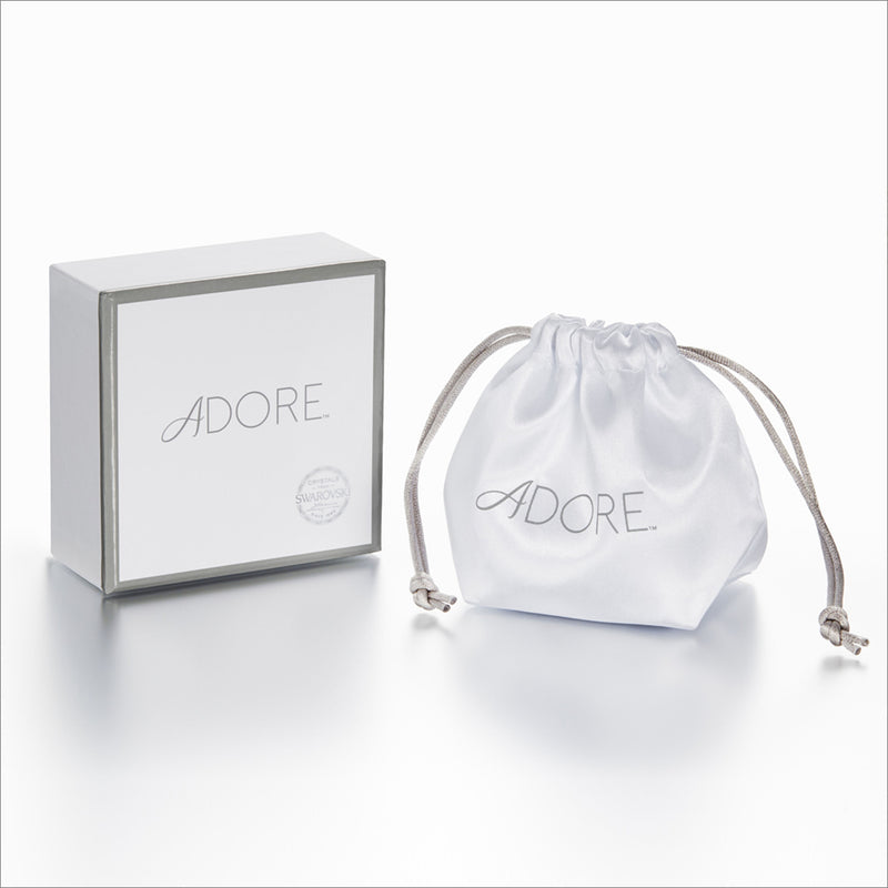 Adore Naturale Rhodium Pavé Resin Heart Earrings Packaging