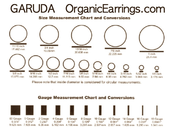 Body Jewelry Size Chart