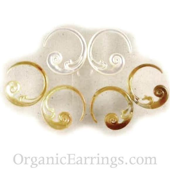 Body Jewelry | Cloud Hoop. mother of pearl 8g Organic Body Jewelry.