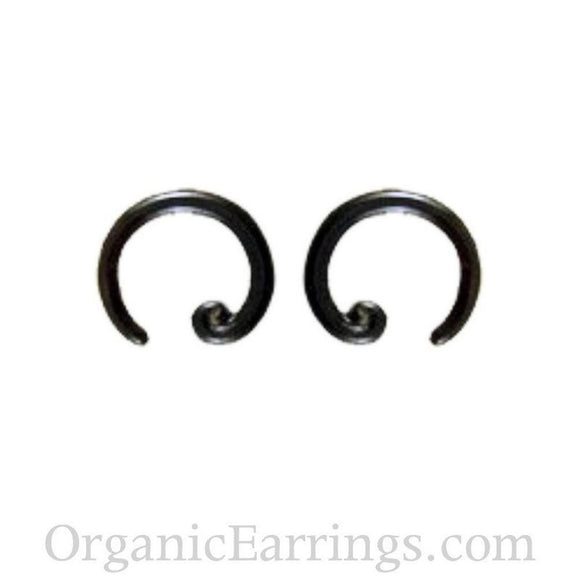 Horn Hoop Earrings | Spiral Hoop. Horn 8g : body jewelry.