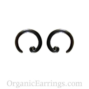 Body Jewelry | 8 gauge black horn earrings : organic body jewelry