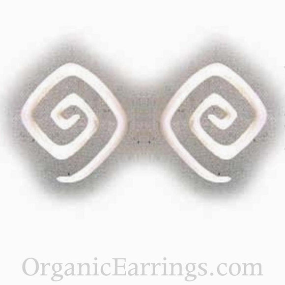 Sale and Clearance | Square Spiral. Bone 8g, Organic Body Jewelry.