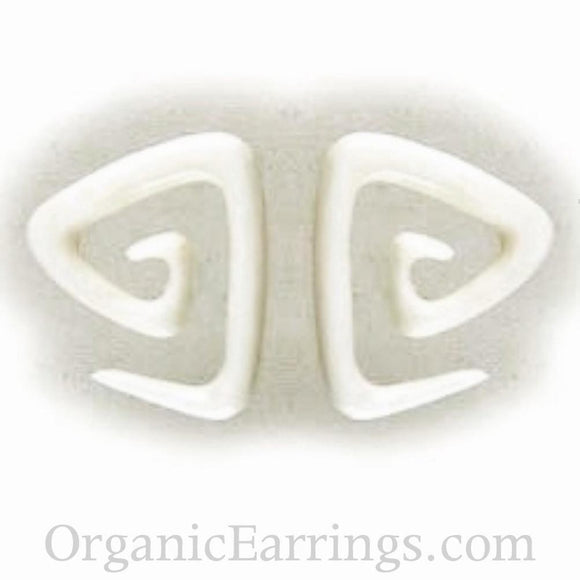 Sale and Clearance | Triangle spiral. Bone 8g, Organic Body Jewelry.