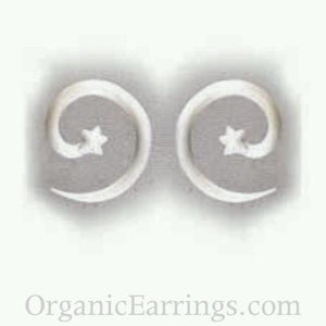 Body Jewelry | Water Buffalo Bone, star spiral, 8 gauge, $30