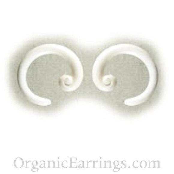 Bone Hoop Earrings | Spiral Hoop. Bone 8g Organic Body Jewelry.