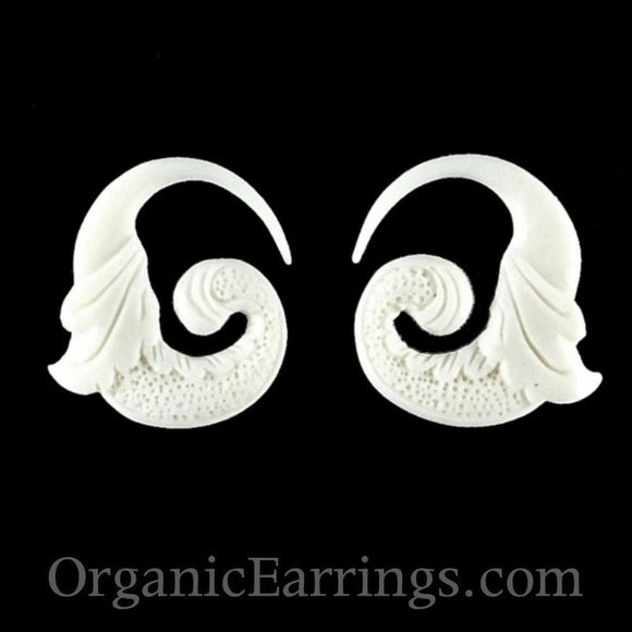 10 Gauge Earrings | Nectar Bird. Bone 10g, Organic Body Jewelry.