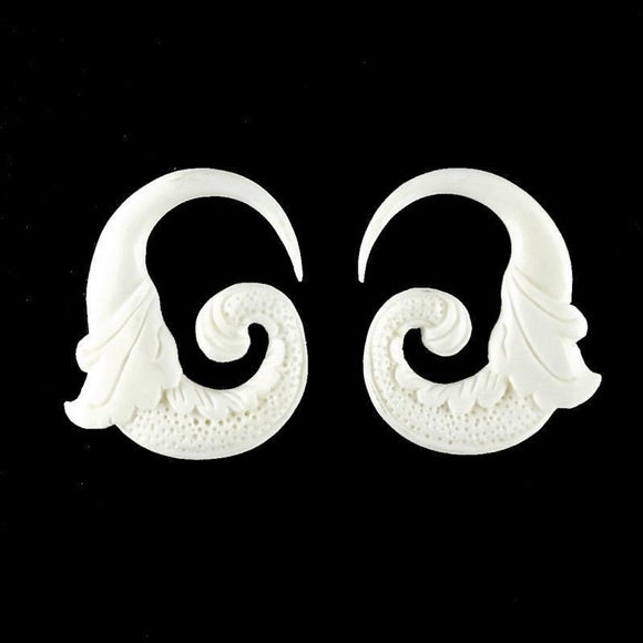 Gauges | Nectar Bird. 6 gauge Bone. 1 3/8