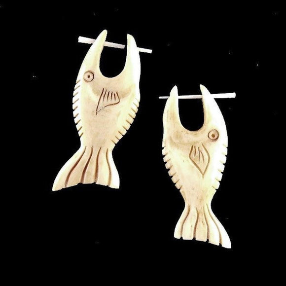 Bone Jewelry | Fish. Handmade Earrings, Bone Jewelry.