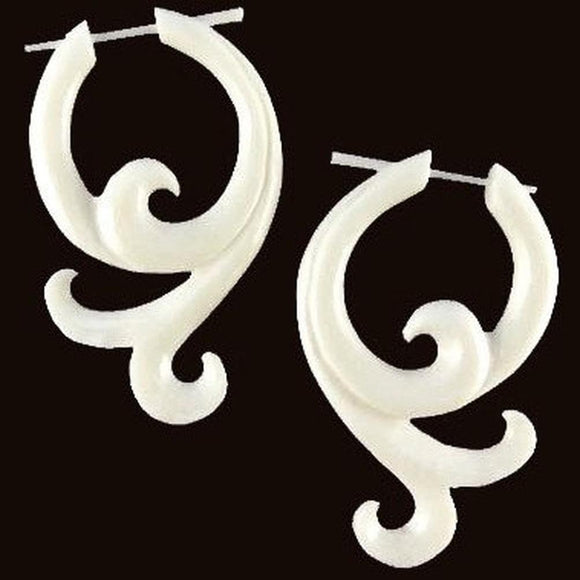 Bone Spiral Earrings | Sprout. Handmade Earrings, Bone Jewelry.