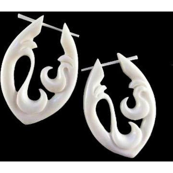 $30 to $50 Spiral Earrings | Water. Handmade Earrings, Bone Jewelry.