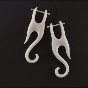Boho Jewelry | Bone Earrings, 1/2