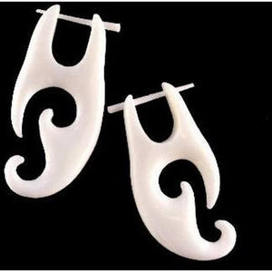Boho Jewelry | Tribal Bone Earrings, 3/4
