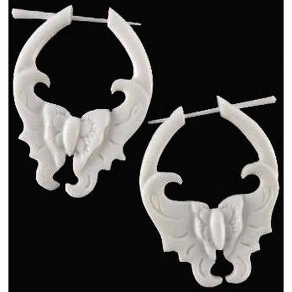 Natural Hawaiian Bone Jewelry | Mariposa. Handmade Earrings, Bone Jewelry.