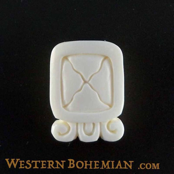 Sale and Clearance | EtzNab. Mayan Glyph. Bone Necklace. Carved Jewelry.