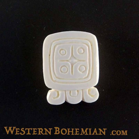 Bone Jewelry | Lamat. Mayan Glyph. Bone Necklace. Carved Jewelry.