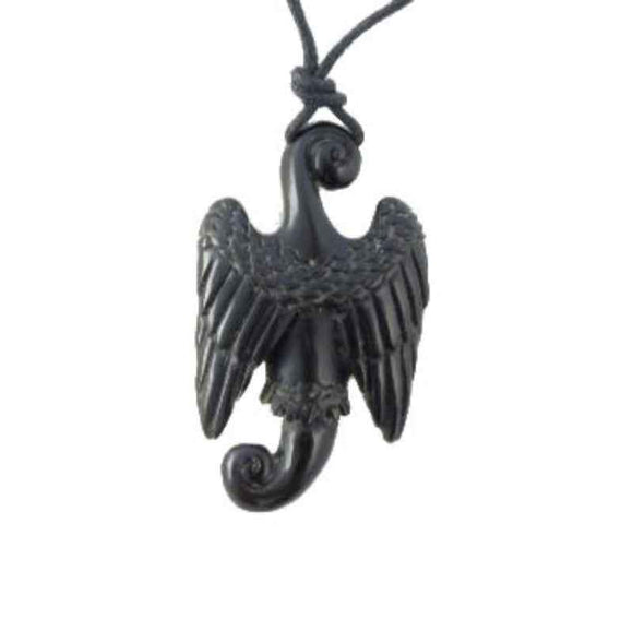 Sale and Clearance | Seraph. Horn Necklace. Carved Jewelry.